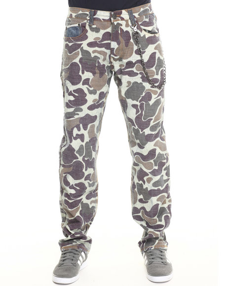 Heritage America - Men Brown Camo Jeans
