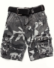 Boys - BELTED CITY CAMO CARGO SHORTS (4-7)