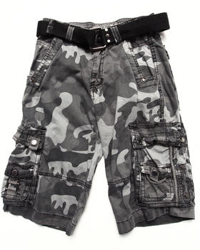 Arcade Styles - BELTED CITY CAMO CARGO SHORTS (8-20)