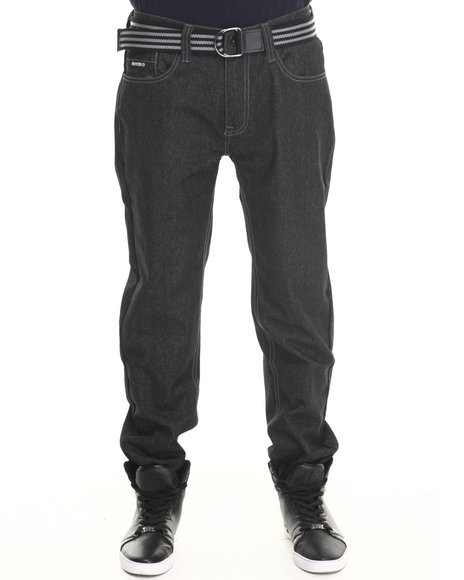 Enyce - Men Black New Tradition Belted Denim Jean