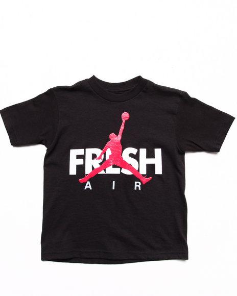 Air Jordan Boys Black Fresh Tee (4-7)
