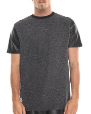 MO7 - Lurex Metallic Faux Leather Tee