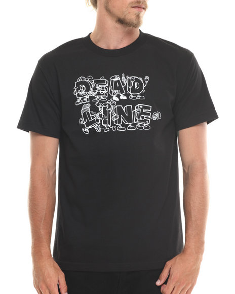 Deadline - Men Black Risky Business Tee