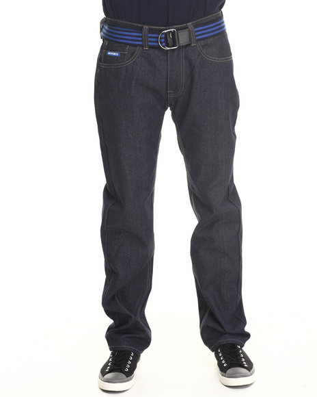 Enyce - Men Blue New Tradition Belted Denim Jean