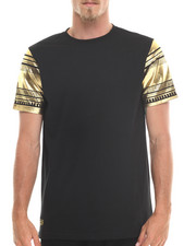 MO7 - Metallic Foil Sleeve tribal trim sleeve Tee