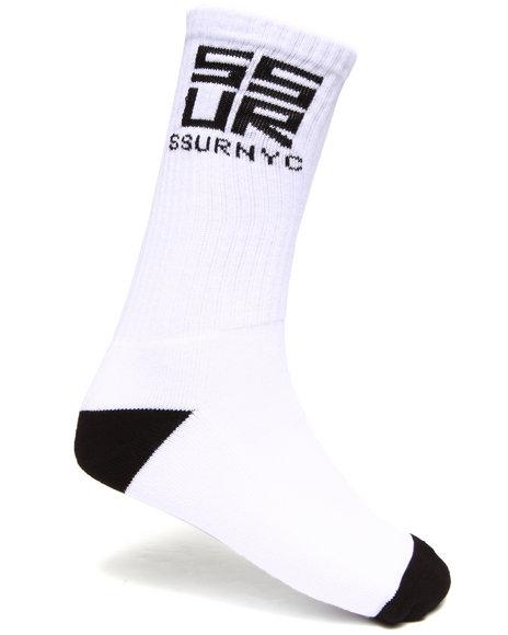 Ssur Men Ssurvenchy Socks White