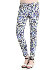 Skinny - Alex Leopard Water Color Jean