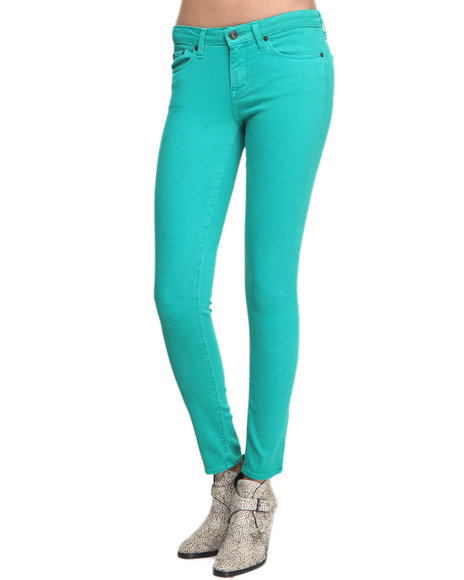 Big Star - Women Teal Alex Peacock Skinny Jeans
