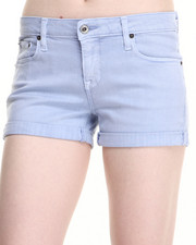 Women - Lilac Denim Shorts