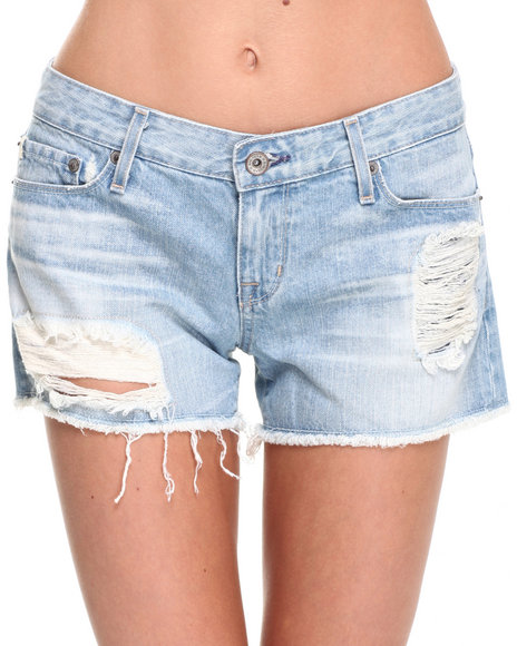 Big Star - Women Light Wash Remy Distressed Short - $20.00