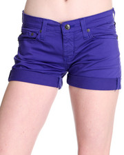 Women - Remy Low Rise Cotton Satin Short