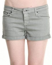 Women - Sage Mist Denim Shorts