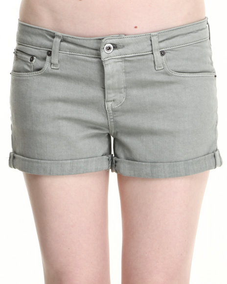 Big Star - Women Olive Sage Mist Denim Shorts - $20.00