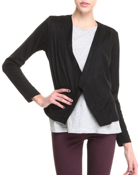 Big Star - Women Black Nickey Mixed Media Cardigan - $10.00