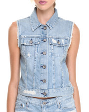 Outerwear - Ryder Distressed Denim Vest