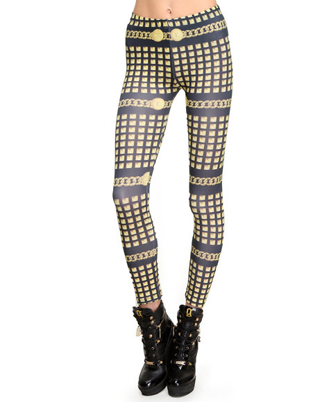 Civil - Women Gold Golden Gods Leggings