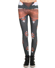 Women - Lips Leggings