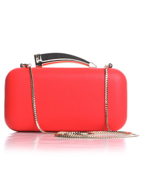 Djp Outlet Women Horn Clutch Orange - $79.99