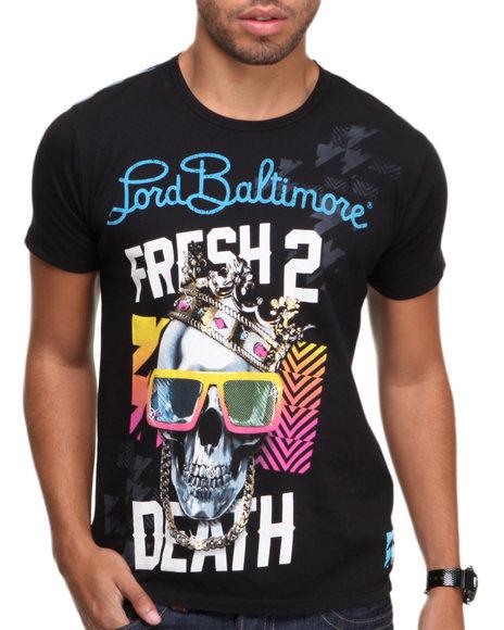 Djp Outlet - Men Black Lord Baltimore Fresh 2 Death Foil Tee