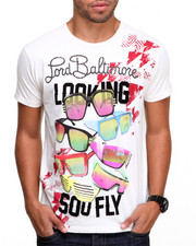 Men - Lord Baltimore So Fly Flocked Tee