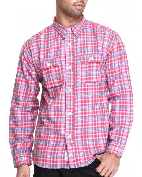 UNDFTD Red,Red Yardmaster Flannel L/S Button-Down