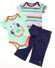 Boys - 3 PC SET - 2 CREEPERS & PANTS (NEWBORN)