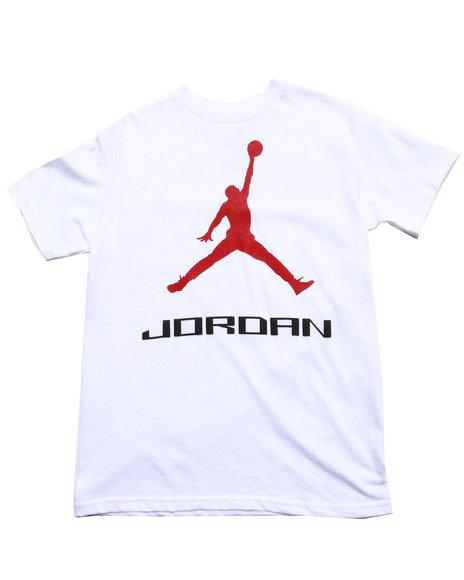 Air Jordan - Boys White Jumpman Tee (8-20)