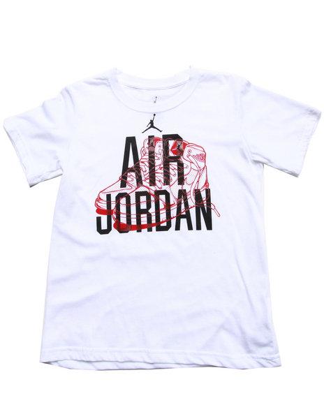 Air Jordan Boys White Classic Jordan Tee (4-7)