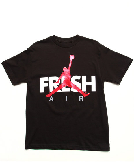 Air Jordan Boys Black Fresh Tee (8-20)