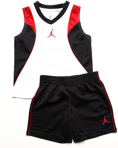 Air Jordan - Boys Black 2 Pc Set - Muscle Tee & Shorts (2T-4T)