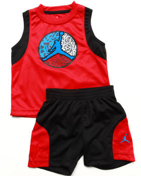 Air Jordan - 2 PC SET - MUSCLE TEE & SHORTS (2T-4T)