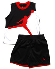 Boys - 2 PC SET - MUSCLE TEE & SHORTS (2T-4T)