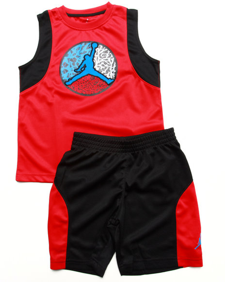 Air Jordan - 2 PC SET - MUSCLE TEE & SHORTS (4-7)