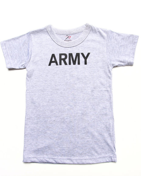 Drj Army/Navy Shop - Boys Light Grey Army Pt Tee