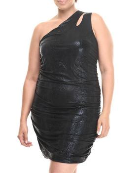 Fashion Lab - One Shoulder Cutout Ruched Dress (Plus)