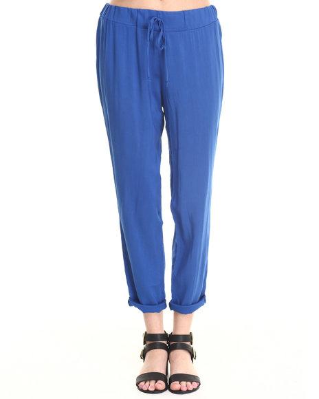 Ali & Kris - Women Blue Smocked Waist Skinny Soft Pant