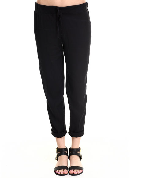 Ali & Kris - Women Black Smocked Waist Skinny Soft Pant