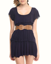 Casual - Tier Dress w/belt lace back
