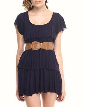Fashion Lab - Tier Dress w/belt lace back