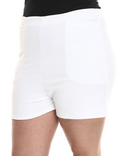 Women - Textured High Waisted Short