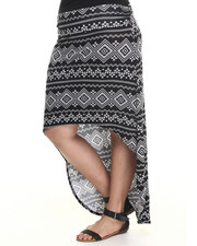 Fashion Lab - Silver Mountains high low skirt (plus)
