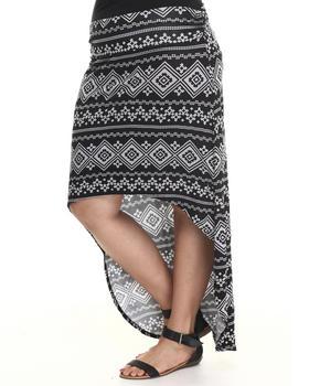 Fashion Lab - Silver Mountains high low skirt (plus)