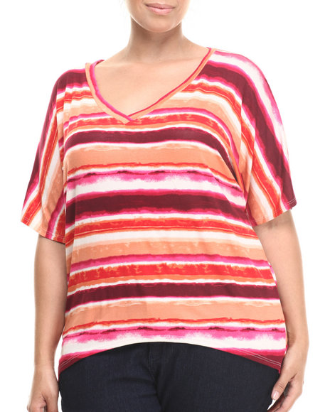 Fashion Lab - Ombre Stripe Dolman Top