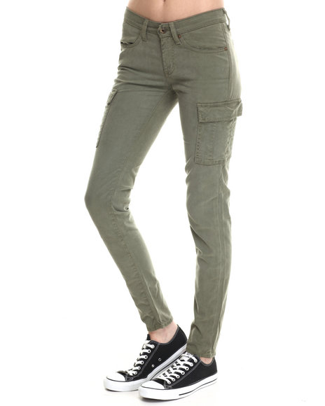 Big Star - Women Green Hysteria Skinny Cargo  Pant- Long Fit - $36.99