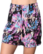 DJP OUTLET - MINKPINK NEON FLORAL WAISTED SHORTS
