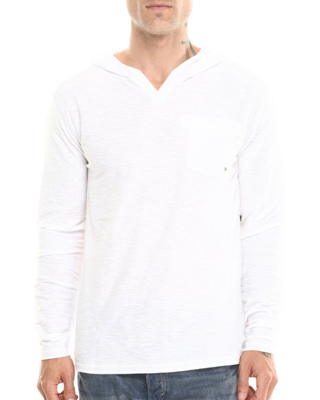 Buyers Picks - Men White Notch Neck Pullover Hoody - $12.99