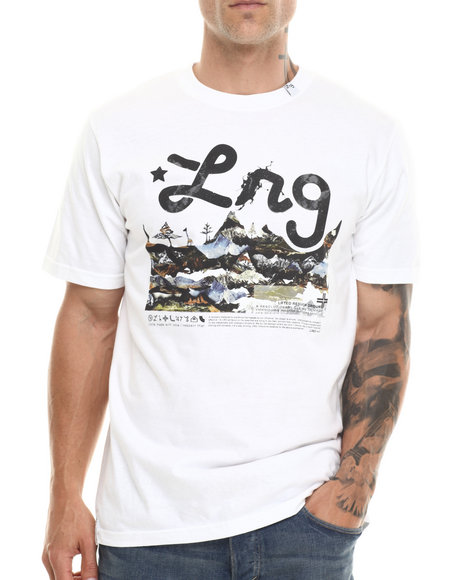 Lrg - Men White O G Roots People S/S Tee - $23.99