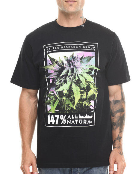 LRG Black 147% All Natural S/S Tee