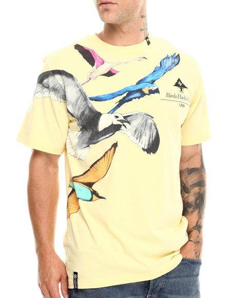 Lrg - Men Yellow Birds Flock To Trees S/S Tee