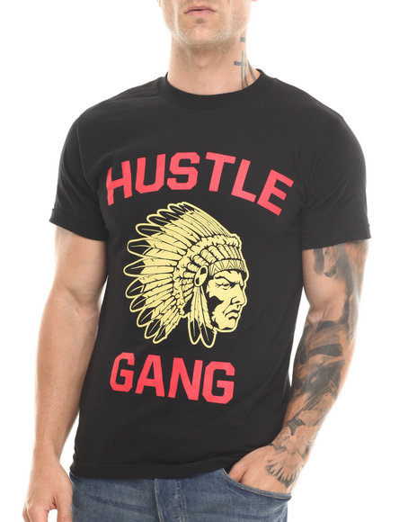 Hustle Gang Black,Gold The Game Tee